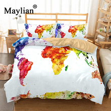 Buy world map bedding and get free shipping on aliexpress 6 colors 3d world map bedding set mandala quilt cover peace design bed set bohemian a gumiabroncs Image collections