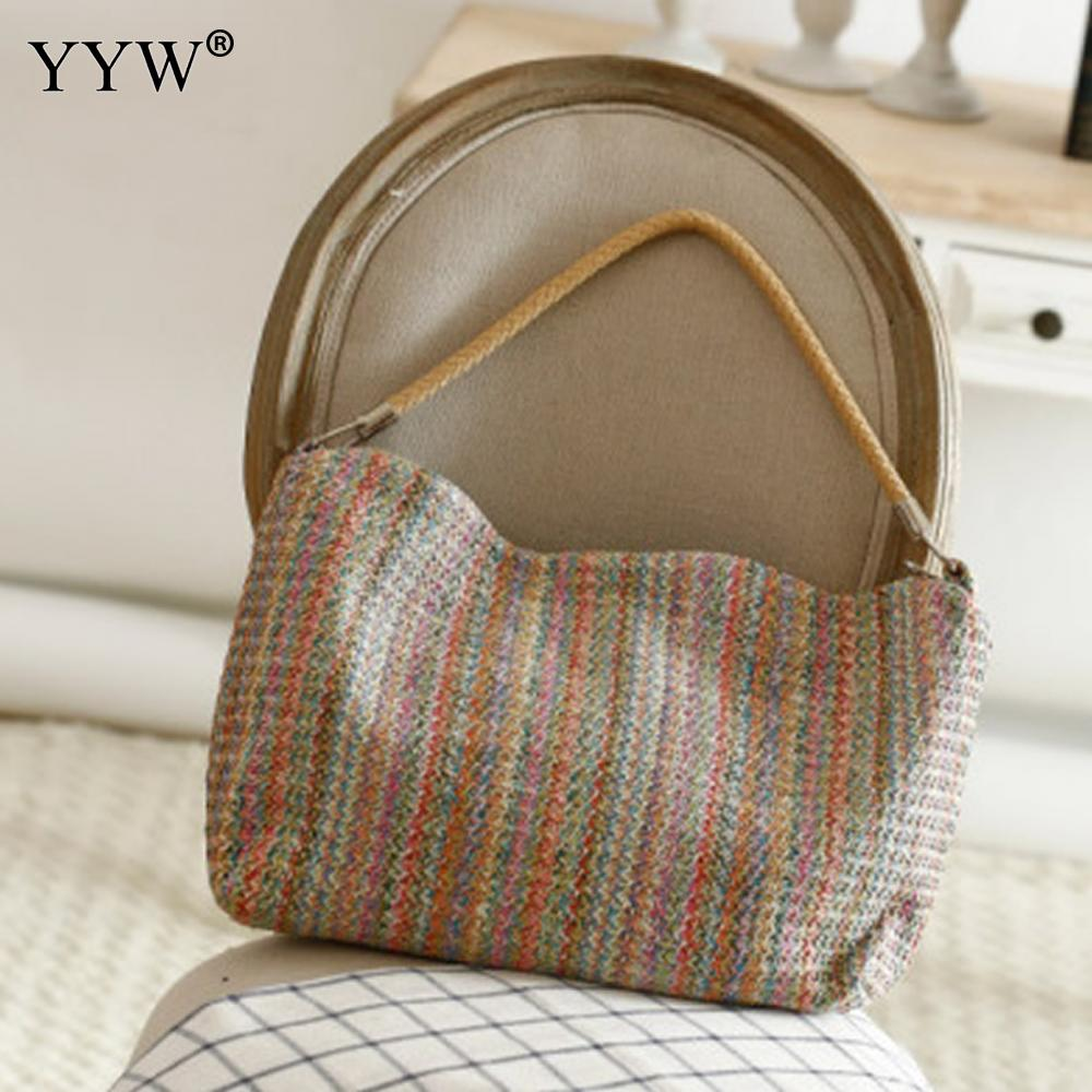 Tassels Straw Bags Casual Weave Shoulder Bag For Women Brand Designers Shopping Bags Luxury Top-Handle Bags Tote High Quality