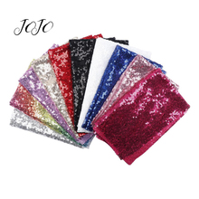 JOJO BOWS 40*50cm Sparkly Sequin Fabric Solid Sheets For Needlework DIY Hair Bows Material Bag Apparel Sewing Accessories Decor