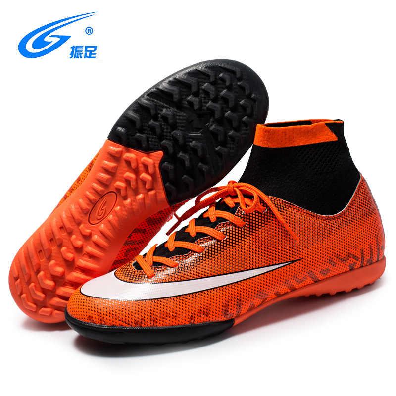 b25886fd6 ... ZHENZU Turf Indoor High Top Adult Rubber Sole Soccer Shoes Men Boy  Futzalki Centipede Children Boots ...