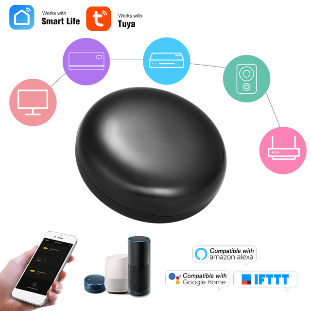 WiFi IR Hub di Controllo A Distanza di IR di Controllo Hub Wi Fi (2.4Ghz) abilitato A Raggi Infrarossi Tuya Smart Remote Controller di Vita Intelligente APP di Controllo