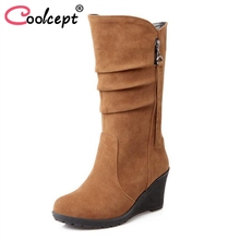 ФОТО size 28-50 women wedge half short ankle boots rainbow color winter snow boot fashion footwear warm botas feminina shoes