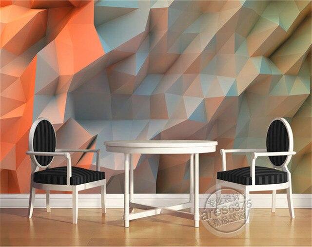 3D Creative Oranje ruimte Behang slaapkamer Unieke Ontwerp ...