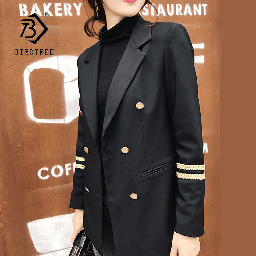 13827cf041 Blazer Feminino 2018 Long Women Blazers And Jackets military style ...