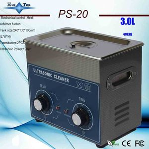 Limpiador ultrasónico con temporizador y calentador, 110v/220V, PS-20, 3L, 120W, joyería, dental, placa de circuito, tarjeta de memoria 3.2L