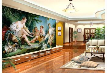 Papel pintado 3d personalizado Pared de TV 3d papel murales Palacio europeo murales TV ajuste pared sofá papel pintado