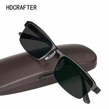 Hdcrafter titânio liga photochromic óculos de leitura para homem hyperopia presbiopia com diopters presbiopia óculos de sol
