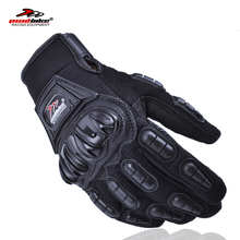 Madbike motorcycles moto gloves men guantes motorcycle racing luva couro motocicleta motor bike motocross gloves red blue black