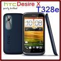 T328e Original Unlocked HTC Desire X T328e GPS 8MP 3G 1650mAh 4GB ROM Dual Core Touchscreen Refurbished Smartphone Free Shipping