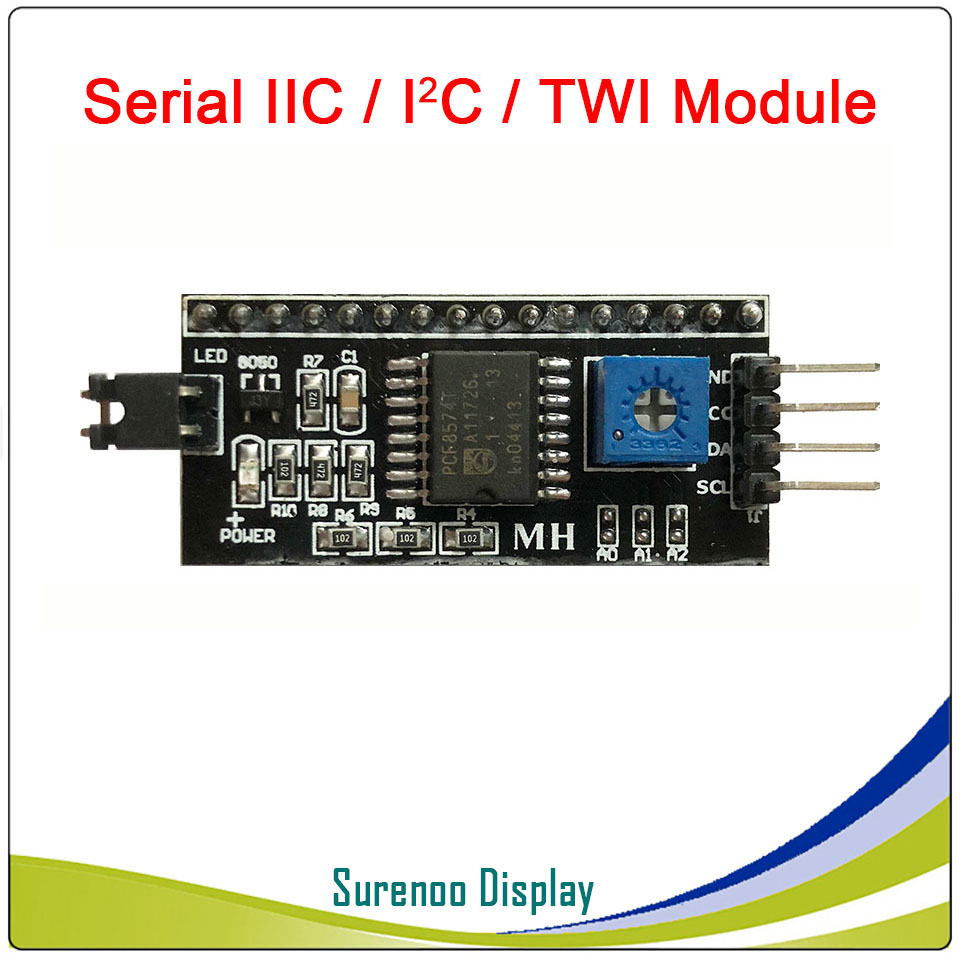 Serial IIC / I2C / TWI Module for 1602 162 <font><b>1604</b></font> 164 2004 204 Character <font><b>LCD</b></font> Module Display for Arduino image