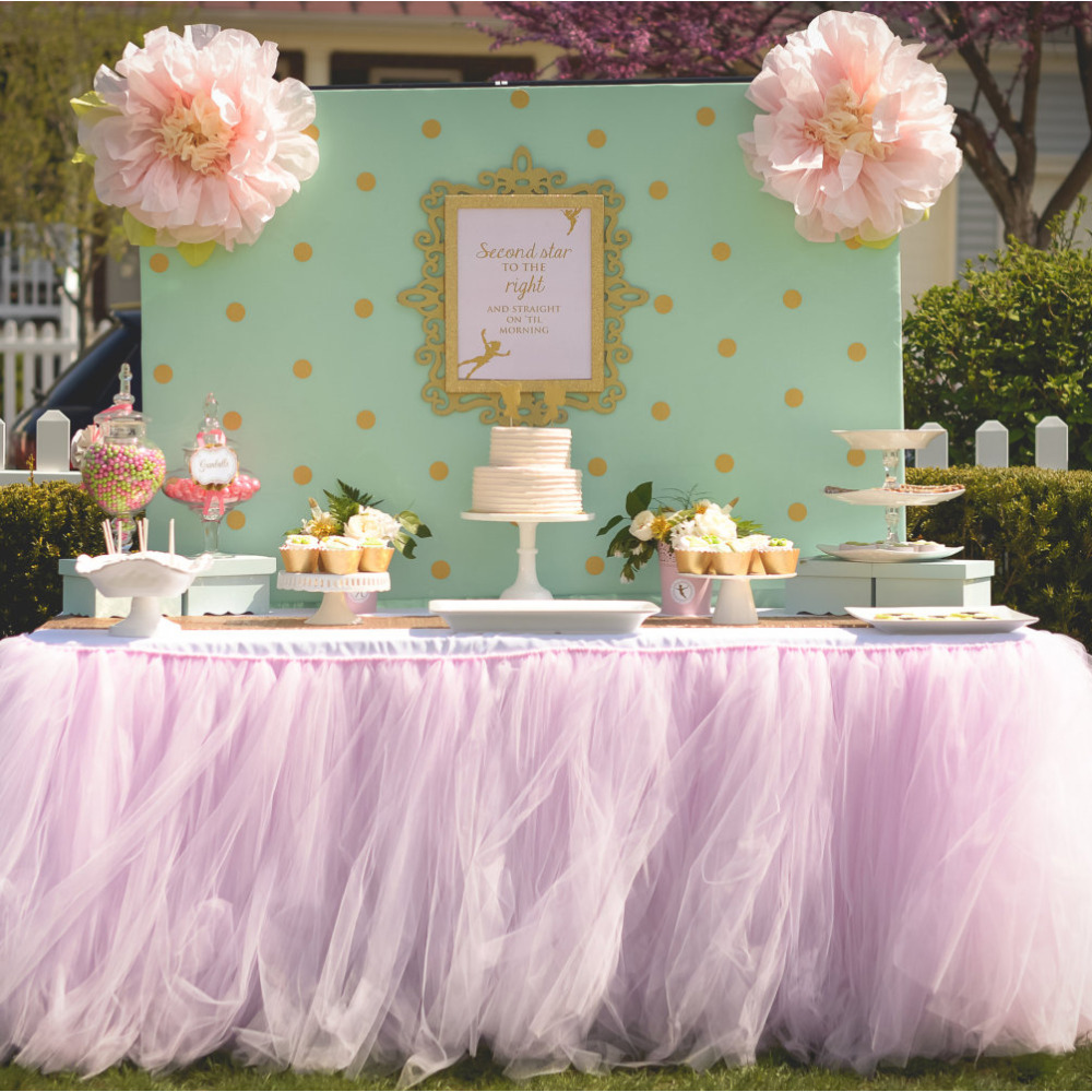 91580cm DIY Tulle Tutu Table Skirt Customize Skirts Birthday Banquet Party Wedding Christmas Decoration In Decorations From Home Garden