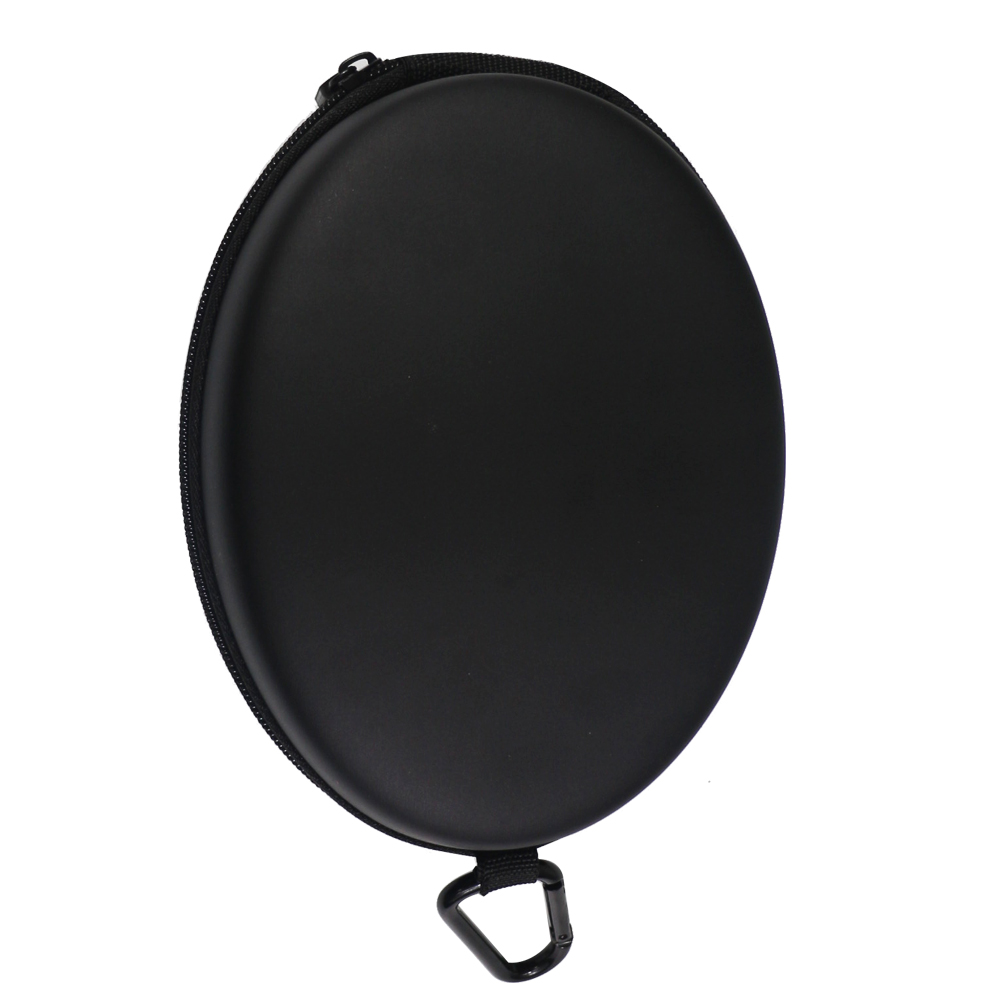 Headphones Protection Box Oval Shockproof Waterproof Hard Carrying Case With Safety Buckle Zipper Large Storage Boxes 19 15 8cm in Earphone Accessories from Consumer Electronics