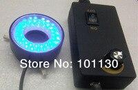 28mm/46mm 작은 보어 블루 라이트 현미경 led 링 램프 알루미늄 합금 쉘 현미경 광원