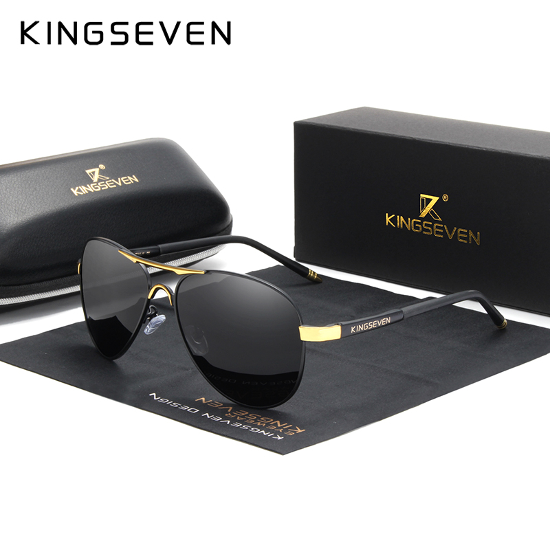 KINGSEVEN Brand 2020 Men's Glasses Driving Polarized Sunglasses Men And Women Aluminum Fashion Eyewear Gafas De Sol Shades