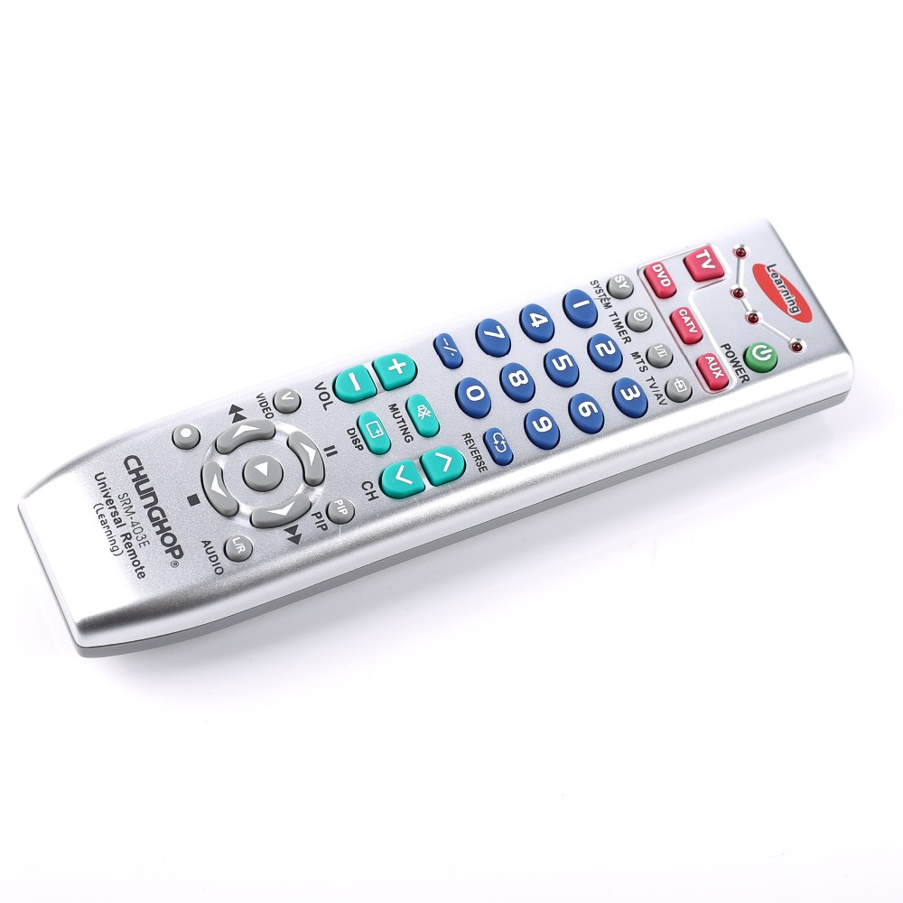 Chunghop SRM-403E Universal Remote Controller Learning remote control For TV/SAT/DVD/CBL/DVB-T/AUX copy Russian English manual chunghop rm139ex learning remote control universal replacement for tv set