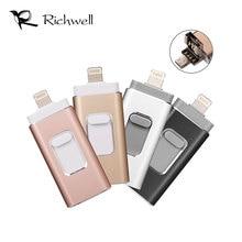 Richwell Lightning OTG флэш-накопитель для iPhone X 8 7 6 6s 5 5S ipad ручка привода HD memory stick OTG Micro U диск 8 ГБ 16 ГБ 32 ГБ 64 ГБ