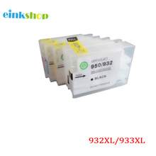 For HP 932 933 HP932 HP933 Refillable Ink Cartridge With Permanent Chip for HP Officejet Pro 6100 6600 6700 7110 7610 7612 for hp 932 933 new refillable ink cartridge with arc chips with ink for hp officejet pro 6100 6600 6700 7100 free shipping