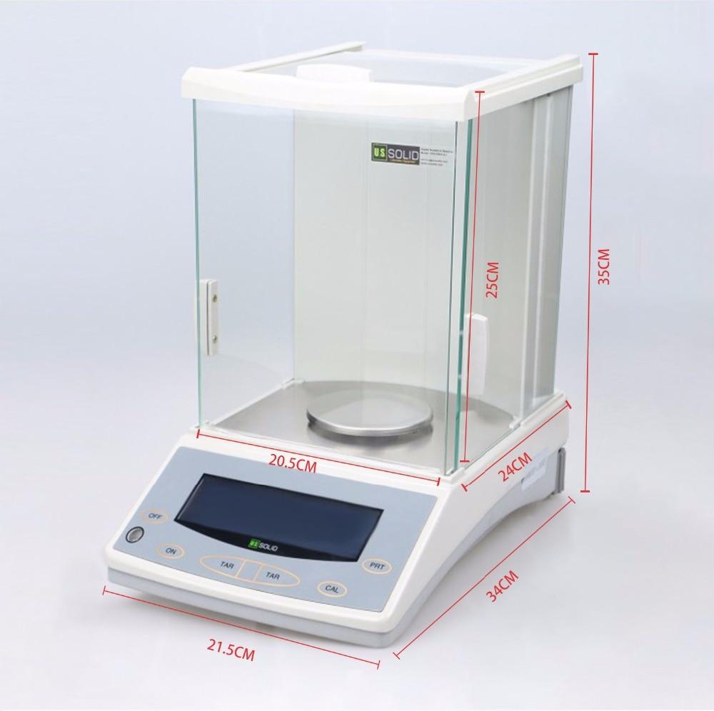 Sólido estadounidense 220 x 0.0001 g 0.1mg Balanza analítica de - Instrumentos de medición - foto 2