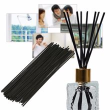 50Pcs/set Oil Diffuser Replacement Refill Sticks Black Rattan Reed Fragrance 250x3mm Party Home Bedroom Bathrooms Decor Gifts(China)
