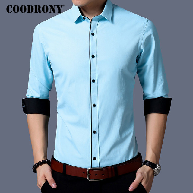 Men Brand Clothing Autumn New Arrivals Casual Long Sleeve Cotton Modern Elegant Shirt