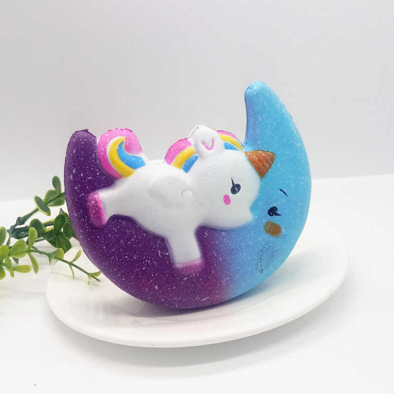 Soft Unicorn Squishy Slow Rebound Cartoon Mini Pu Foam Compression Toys Color Unicorn Squishy Series Decompression Toys - NNL419