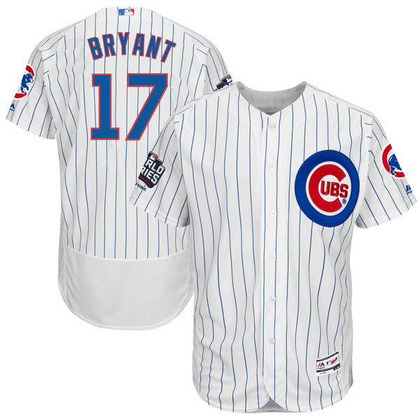 mlb mens chicago cubs kris bryant home white 2016 world series champions flex base authentic player