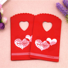 New Design Hot Sale Wholesale 50pcs/lot 9*15cm Small Red Wed