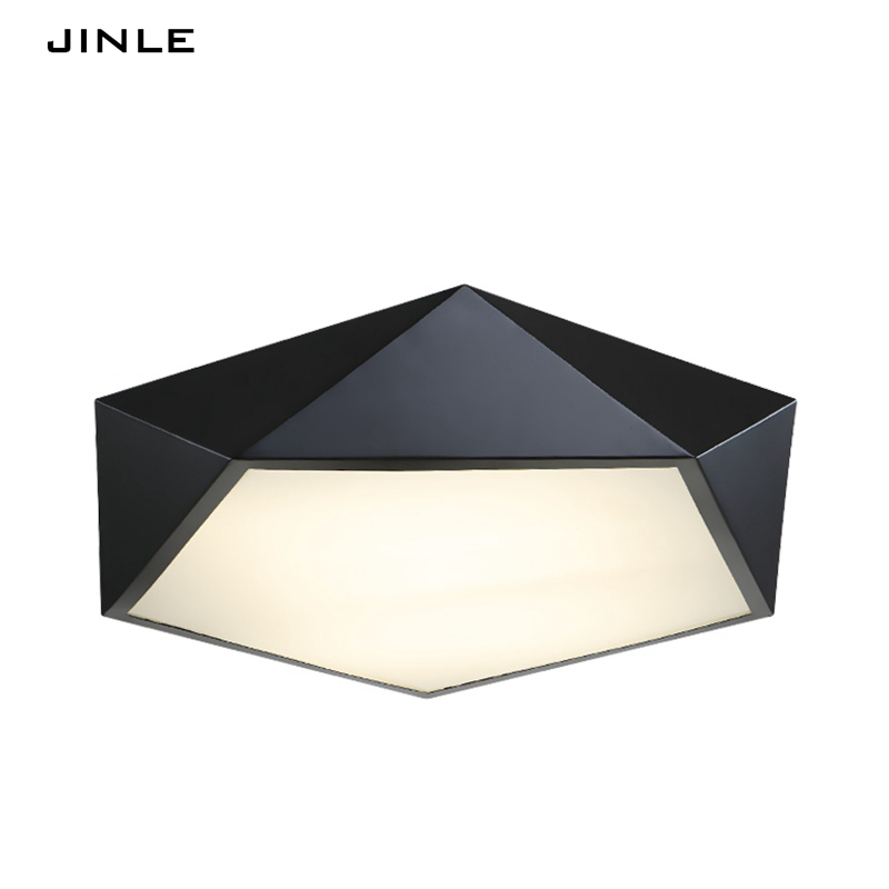 Led Ceiling lights bedroom lamp Nordic modern simple personality light decoration creative study iron art geometric alien lamps