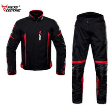 MOTOCENTRIC Motorcycle Jacket Men+Moto Pants Body Armor Waterproof Riding Racing Jaqueta Chaqueta Moto