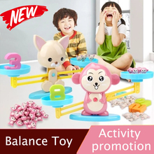 Monkey Balance Game Scale Early Learning Weight Child Kids Educational toys Intelligence Toys monkey deal ball balance game handheld maze children s intelligence and fun wooden toys early head start training balance game kids toys