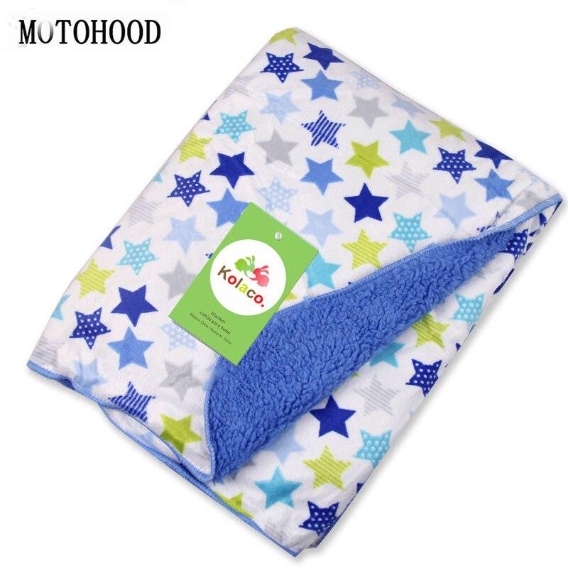 MOTOHOOD Baby Blanket & Swaddling Newborn Thermal Soft Fleece Blanket Solid Bedding Set Cotton Quilt Kids Blanket