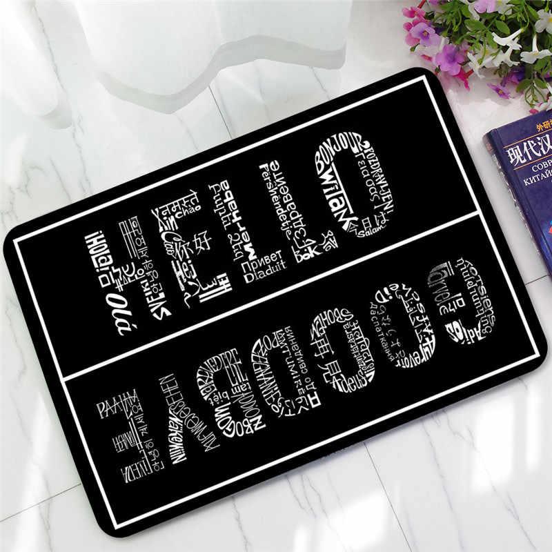 Tapete personalizado engraçado da esteira da porta da frente tapetes da área do tapete do assoalho do anti-deslizamento