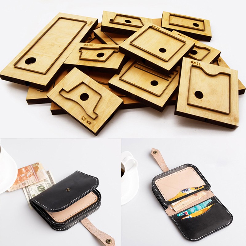 Herramientas Para Cuero Leather Craft Template Fabric Cutter Card Holder Snap Button Wallet Die Cutting Knife Mould Punching