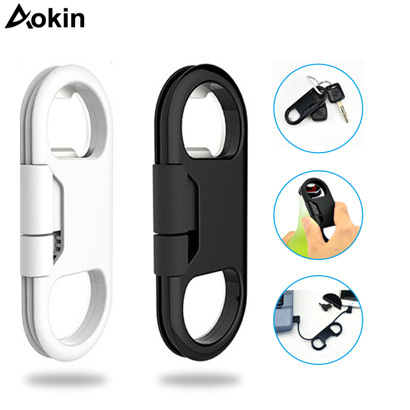 buy aokin 20cm micro usb cable keychain charging sync cord cables beer bottle. Black Bedroom Furniture Sets. Home Design Ideas