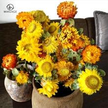 MiHuaGe 18Pcs/Bundles Natural Daisy Dried Flowers Wedding Party Home Decoration DIY Flower Bouquet Artificial Eternal