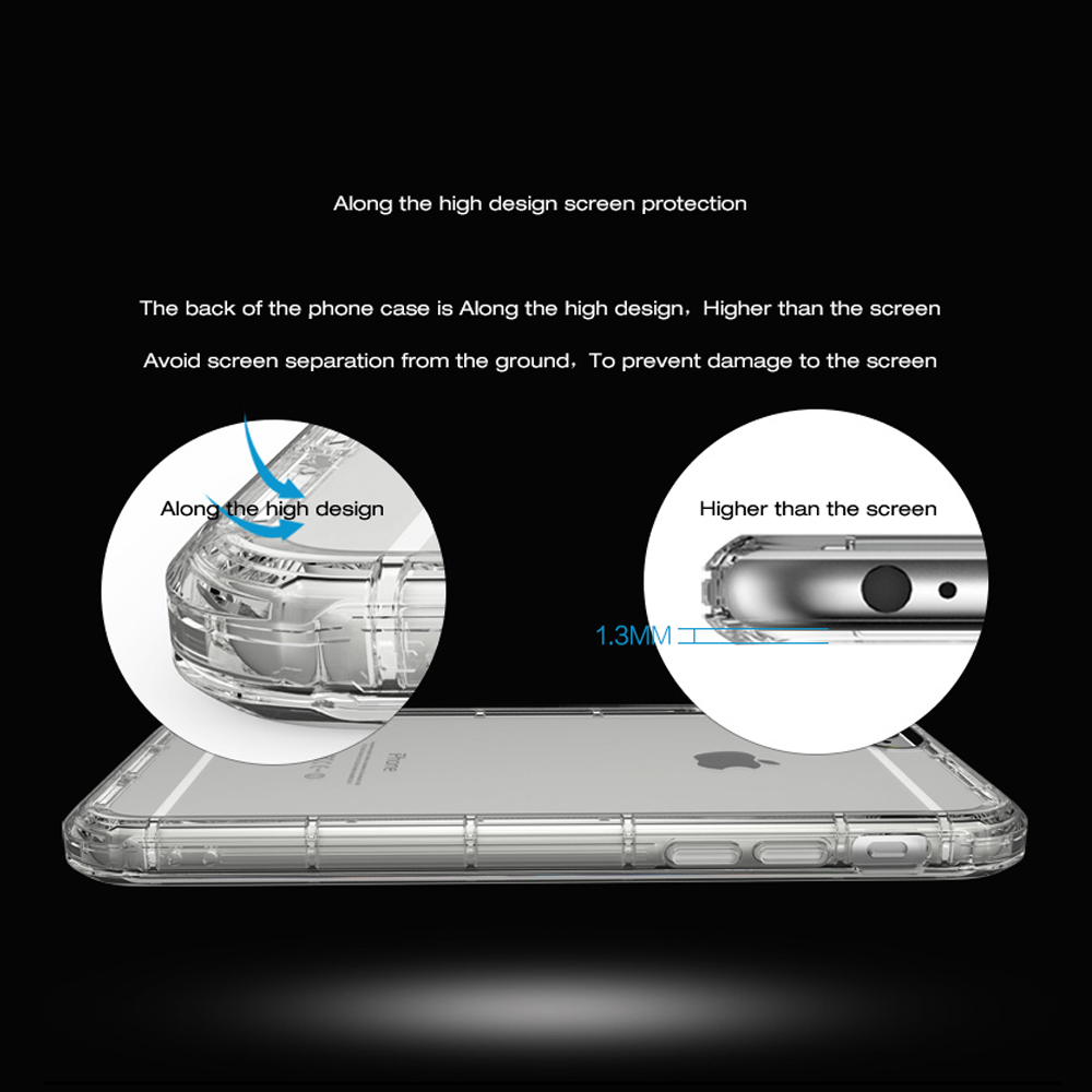 Suntaiho Mobile Phone Case Cover For Apple iPhone 7 Plus Crystal Clear Shock Absorption Soft TPU Cover Case for iPhone 7 6 6s