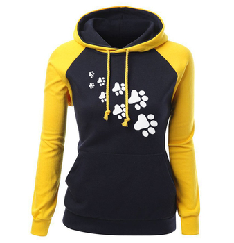 hoodie with paw print