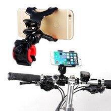 Suporte do telefone Da Bicicleta Da Bicicleta Acessório Smartphone Móvel 360 Rotating Motocicleta Guiador Clipe Suporte de Montagem Suporte Para Moto G4 G5