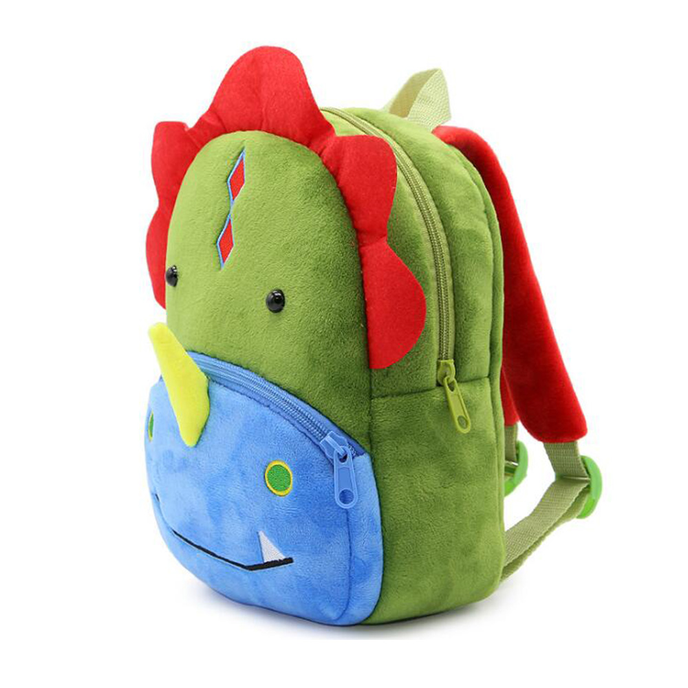 Children Travel Bagpack Plush Backpacks Animal Dinosaurs 3D Cartoon Christmas Gift Backpack Kids Kindergarten Schoolbag Bags