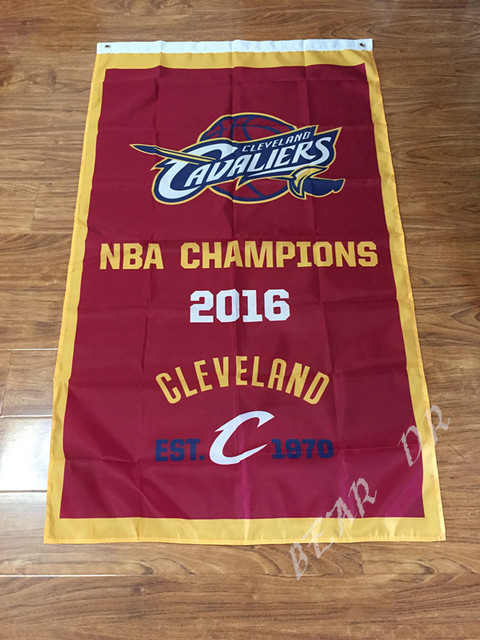 Cleveland Cavaliers Flag 2016 Champions Finals Flag 3ft x 5ft Polyester Banner Flying 150* 90cm Custom flag outdoor