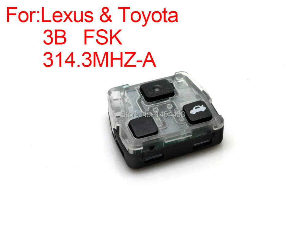 High Quality remote key 3 buttons FSK 314.3MHZ A for Lexus Free shipping