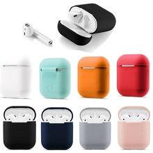 Bluetooth אלחוטי מקרה עבור Airpods אבק משמר headhone מקרה airpod אביזרי off לבן מקרה עבור airpods פאוץ מחזיק סיליקון