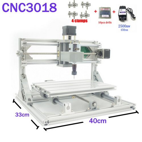 CNC 3018 ER11 GRBL Control Diy CNC Machine 3 Axis pcb Milling Machine Wood Router Laser Engraving with 450nm 2.5w Laser Module daniu 3018 3 axis grbl control 500mw laser diy cnc router milling engraving machine working area 30x18x40cm