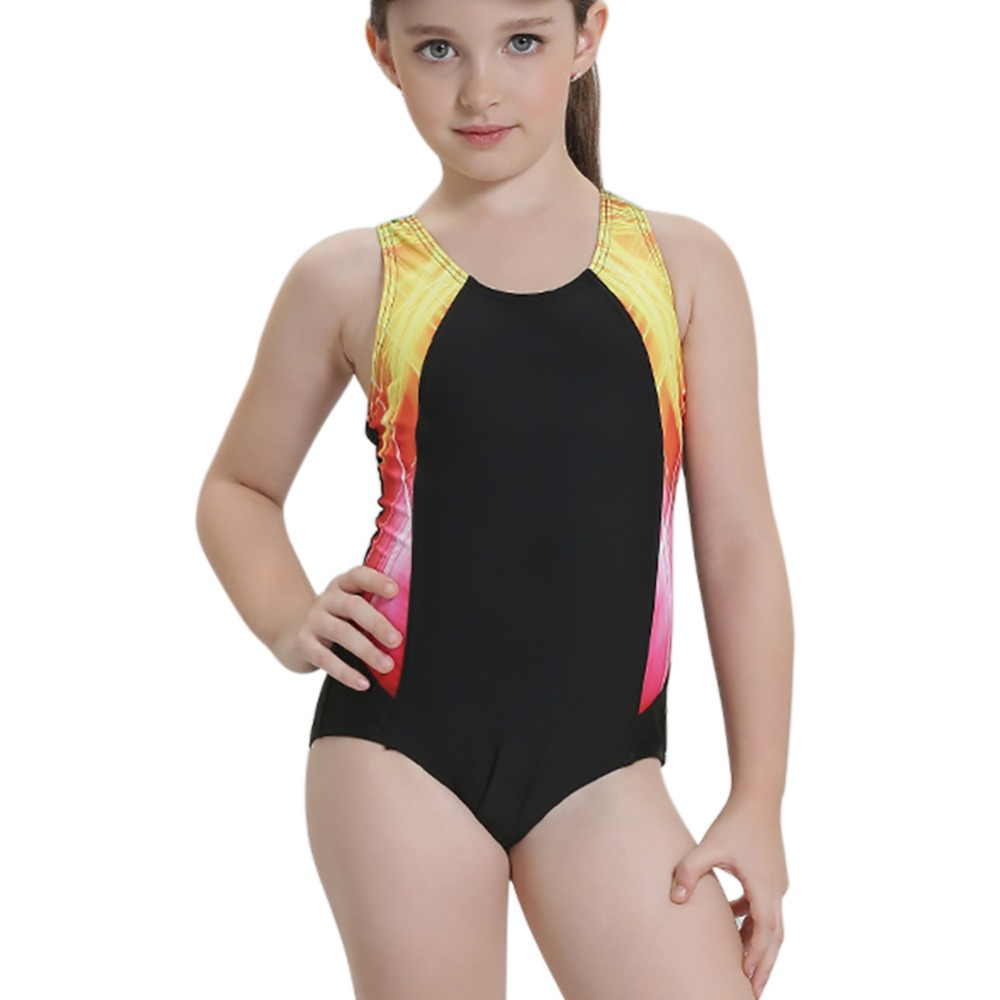 Girls Swimwear Kids One Piece Swimsuit 2017 Summer Baby Beach Suit Brand Baby Girls Swimsuit Professional Cute Swimwear