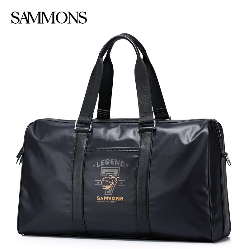 SAMMONS Men's Nylon Handbag Male Casual Waterproof Large Capacity Tote Purse Man Travel Laptop Messenger Bag High Quality 190396 high quality authentic famous polo golf double clothing bag men travel golf shoes bag custom handbag large capacity45 26 34 cm