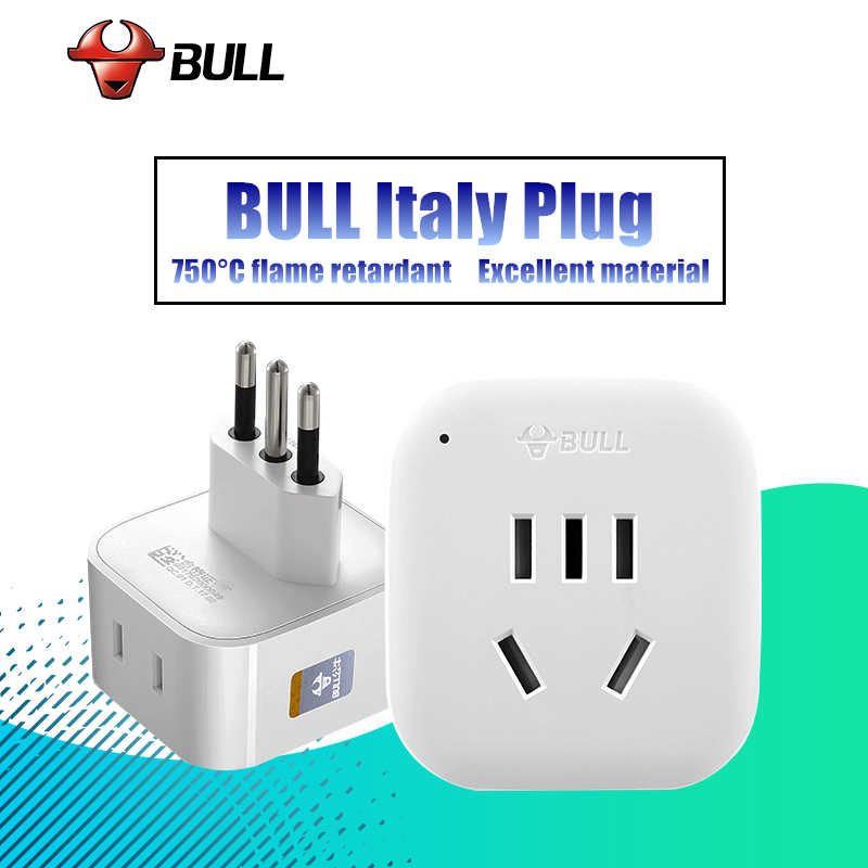 BULL Best Quality Adapter Plug for Italy/Moldova/Uruguay/Chile Travel Adapter US AU UK to Italy Electrical Plug Power Sockets