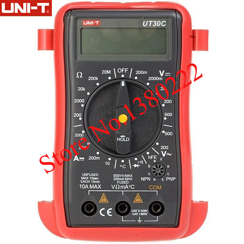 UNI-T UT30C Palm-Size Digital Multimeters/Handheld digital multimeter AC DC Voltmeter Ammeter Resistance Tester  цены