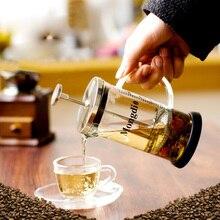 Edelstahl + Borosilikatglas Französisch Pressen Kaffeekanne, Kaffeemaschine, Teekanne 600 mL