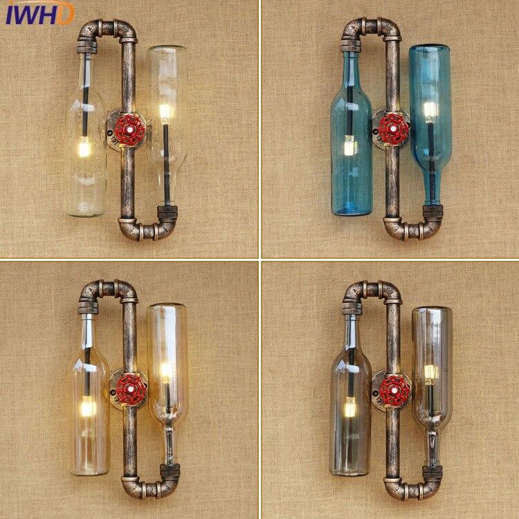 Edison Wall Sconce Retro Nástěnná lampa Kreativní osobnost Loftová Průmyslová Vintage Nástěnná lampa Lampe Vodní trubka Lampa Glass