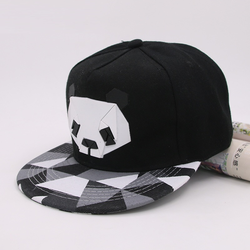panda bear baseball cap kung fu giants hat summer new cartoon font adjustable